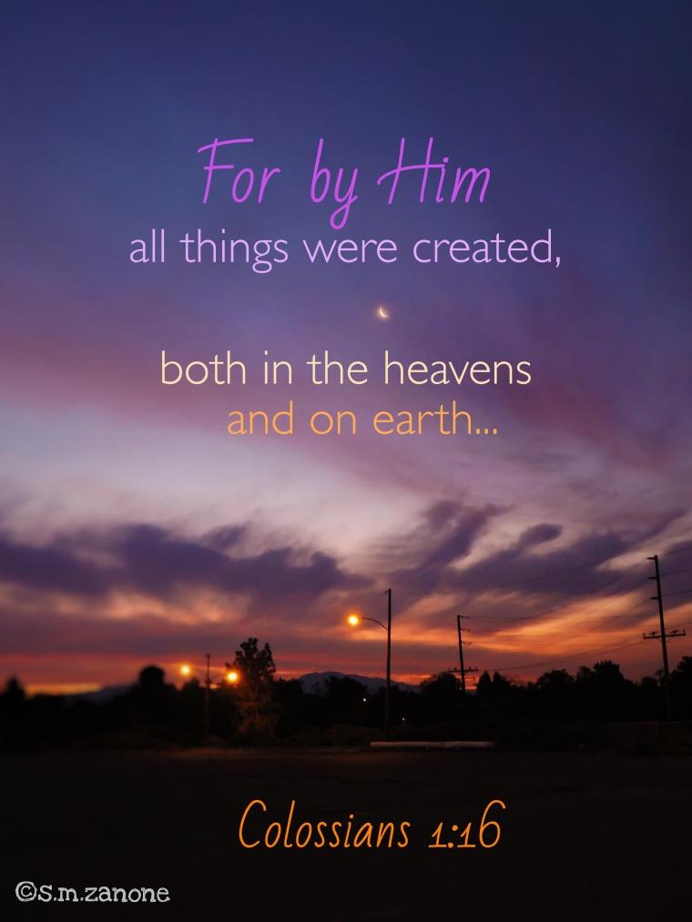 Through Him, for Him